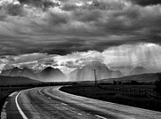 Storm Prints Acrylic Prints - Leaving the Tetons Acrylic Print by Steven Ainsworth