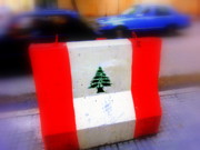 Pop Art Photos - Lebanese Flagpost by Funkpix Photo  Hunter