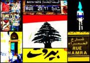 Pop Art Photos - Lebanon famous icons by Funkpix Photo Hunter