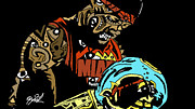 Lebron Metal Prints - Lebron James full color Metal Print by Kamoni Khem