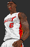 Lebron James Digital Art - LeBron James by Watson  Mere