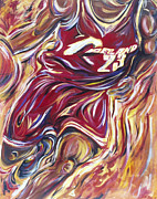 Basketball Paintings - Lebron by Redlime Art