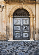 Lecce Arched Door Print by Sharon Foster