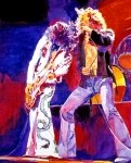 Led Zeppelin - Page And  Plant Print by David Lloyd Glover