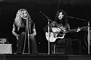 Robert Plant Prints - Led Zeppelin 1971 Acoustic Print by Chris Walter