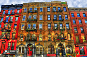 Rock And Roll Acrylic Prints - Led Zeppelin Physical Graffiti Building in Color Acrylic Print by Randy Aveille