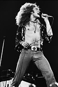 Led Zeppelin Robert Plant 1975 Print by Chris Walter