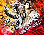 Jimmy Page Paintings - Led Zeppers Fish by J Vincent Scarpace