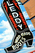 Signage Paintings - Leddy Boots by Anthony Ross