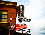 Neon Photos - Leddys Boots by David Waldo