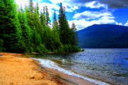 Hdr Art - Ledgewood Beach on Priest Lake by David Patterson