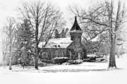 Winter Landscapes Framed Prints - Lee Chapel February 2012 Series II Framed Print by Kathy Jennings