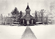 Winter Landscapes Metal Prints - Lee Chapel February 2012 Series III Metal Print by Kathy Jennings
