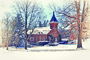 Snow Landscapes Metal Prints - Lee Chapel February 2012 Series IV Metal Print by Kathy Jennings