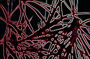 Organic Digital Art Originals - Lee Krasner Spider Plant Digital Detail 2 by Dick Sauer