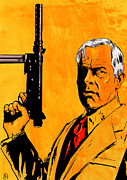 Celebrities Drawings Framed Prints - Lee Marvin Framed Print by Giuseppe Cristiano