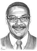 People Drawings Originals - Lee Roy Selmon by Murphy Elliott