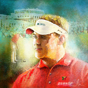 Sports Art Mixed Media - Lee Westwood winning the Portugal Masters 2009 by Miki De Goodaboom