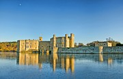 Leeds Posters - Leeds Castle on Ice Poster by Chris Thaxter