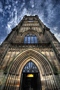 Entrance Door Framed Prints - Leeds Parish Church Framed Print by Yhun Suarez