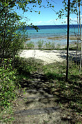 Huron Indian Art - Leelanau Michigan Beach by LeeAnn McLaneGoetz McLaneGoetzStudioLLCcom