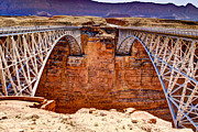 Northern Arizona Framed Prints - Lees Ferry Bridges Framed Print by Jon Berghoff