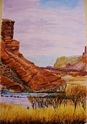 Cliff Lee Painting Originals - Lees Ferry by Pieter Schaafsma