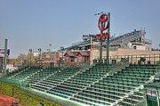 Wrigley Field Framed Prints - Left field bleachers Framed Print by David Bearden