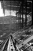 Famous Baseball Pictures Art - Left Field Upper Deck with Columns-Original Yankee Stadium by Ross Lewis
