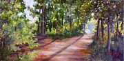 Country Dirt Roads Painting Prints - Left or Right Print by Sheila Kinsey