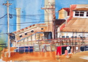 Factories Painting Framed Prints - Left Over Framed Print by Bobby Walters
