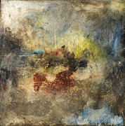 Rust Mixed Media Metal Prints - Left To Chance Metal Print by Michel  Keck