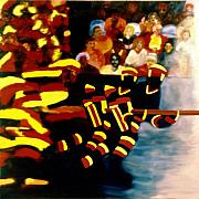 Hockey Paintings - Left Wing by Yack Hockey Art