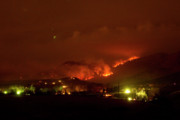 Front Range Art - Lefthand Canyon Wildfire Boulder County Colorado 3-11-2011 by James Bo Insogna