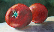 Tomatoes Pastels Prints - Lefthand Reds Print by Richard Smith