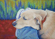 Retriever Pastels Posters - Leg Warmer Poster by Tracy L Teeter