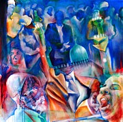 Modern Acrylic Paintings - Legacies of Resistance by Khalid Hussein