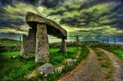 Mountain Road Prints - Legananny Dolmen Print by Kim Shatwell-Irishphotographer