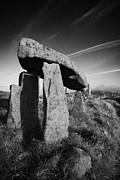 Portal Framed Prints - Legananny dolmen portal tomb ancient historic monument county down irish ireland Framed Print by Joe Fox