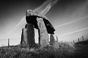 Portal Framed Prints - Legananny dolmen portal tomb ancient historic monument county down northern ireland uk Framed Print by Joe Fox
