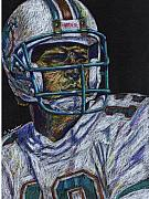 Miami Dolphins Drawings - Legend by Maria Arango