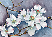 Legend  Paintings - Legend of the Dogwood by Marsha Elliott