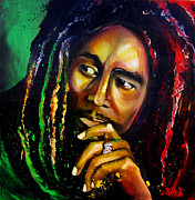 Rastafarian Paintings - Legend by Steve Will