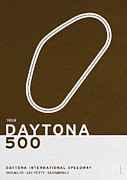 Limited Edition Framed Prints - Legendary Races - 1959 Daytona 500 Framed Print by Chungkong Art