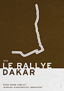 Symbolism Digital Art Acrylic Prints - Legendary Races - 1978 Le rallye Dakar Acrylic Print by Chungkong Art