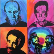 Music Themed Art Paintings - Legends of Laughter by Bill Manson
