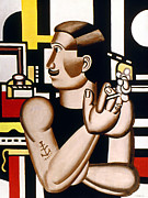 1920 Framed Prints - Leger: Mechanic, 1920 Framed Print by Granger