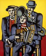 Cubist Framed Prints - Leger Musicians 1944 Framed Print by Granger
