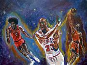 Basketball Paintings - Legneds ll by Tommy  Winn