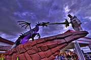 Downtown Disney Photos - Lego Dragon HDR by Jason Blalock